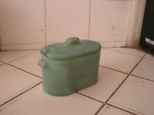 Antique Green Glass Salt/Sugar Cellar