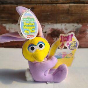 Fisher Price Sesame Street Basket Hugger  Big Bird in Purple Bunny Suit
