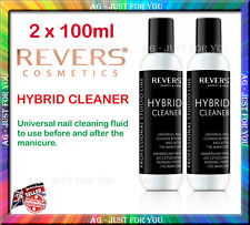 2 X 100ml Universal Cleaner Hybrid Remove Nail Polish Revers Cosmetics