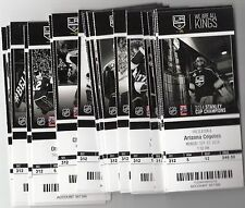 2014-15 LOS ANGELES KINGS SEASON TICKET STUBS SET WITH PLAYOFFS ROB BLAKE
