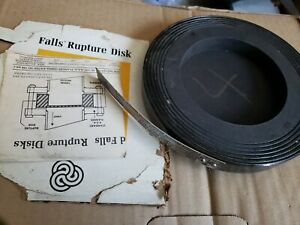 "CARBRUNDUM FALLS RUPTURE DISK GRAPHITE 4"" LOT J-4-97 CA.8700 NEW"