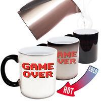 Funny Mugs Game Over - Geek Geeky Nerd Nerdy Humour Gamer MAGIC NOVELTY MUG