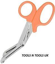 Orange/ Amber Colour 7'' Tough Cut Emergency Scissors Shears EMT Bandage Nursing
