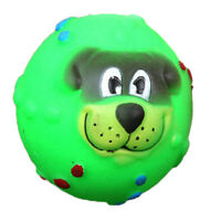 Pet Dog Giggle Ball Tough Treat Training Chew Sound Activity Toy Squeaky M&R