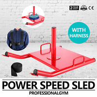 Fitness Power Sled Red Training Speed Weight Running Crossfit Strength