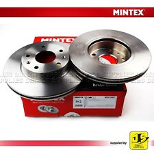 2X MINTEX FRONT BRAKE DISCS MDC1502 FOR LAND ROVER FREELANDER 98-06 1.8 2.0 2.5