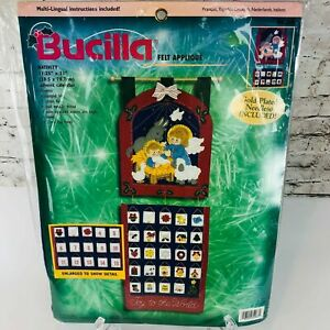 Bucilla 84268 Nativity Advent Calendar Christmas Felt Applique 11.25x31 Kit