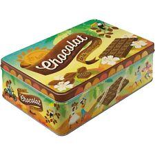 Scatola in Latta richiudibile contenitore Chocolat