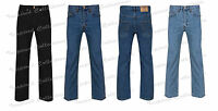New Mens Straight Leg Regular Fitt Plain Denim Jeans Mens