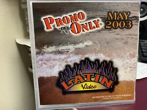 PROMO ONLY LATIN DVD MAY 2003 VIDEO SERIES NEW