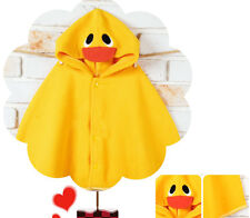 Baby Yellow Duck Hooded Cloak Poncho Jacket Outwear Coat Costume 0-24Months