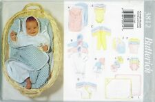 Butterick 3812 Infant Baby Layette Bunting Kimono Towel Sewing Pattern UNCUT