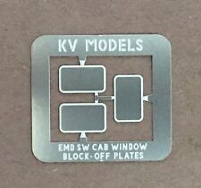 ETCHED SW-8 SW-9 SW-1200 WINDOW BLOCK-OFF PLATES HO SCALE KV MODELS