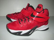 Nike Soldier VIII James LeBron 653645 Red Black Youth Basketball Shoes 6Y