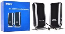 iMicro SP-IMD168B 2-Piece 2-Channel USB Powered Speaker w/Headphone Jack--N