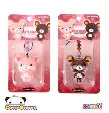 Kawaii RARE Large Faye Bear Flashing Phone Strap! Discontinued! U Choose!