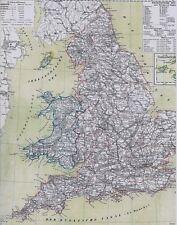 Echte 156 Jahre alte Landkarte Antique Map of ENGLAND and WALES 1861