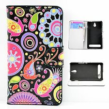 ID Card Holder Leather Skin Wallet Cover Case For Sony Xperia E1 D2004 / D2005