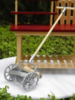 Miniature Dollhouse FAIRY GARDEN Accessories ~ Old-Fashioned Metal Lawnmower