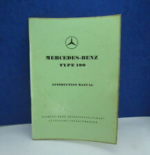 "Mercedes 190 190b owners instruction manual Edition ""B""  1958 very nice OEM"