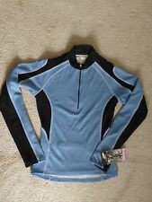 BELLWETHER WOMENS NWT CYCLING MESH TRINITY JERSEY LS 1/2-ZIP TOP---S--SHIPS FREE