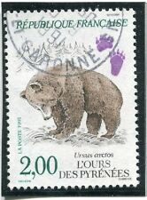 STAMP / TIMBRE FRANCE OBLITERE N° 2721 FAUNE OURS DES PYRENEES