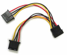 6inch  FC444 4Pin Molex POWER Y SPLIT CABLE (4pin Male to 2 x 4Pin Female)