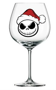9x nightmare before Christmas wine glass vinyl decal stickers Colour