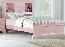 Full Size Bed Unique Storage Drawers Hb Pink Plywood Birch Veneer 1pc Bedframe