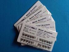 100 Sets Dental Orthodontic Brackets Brace Metal Standard MBT 022 345 hooks