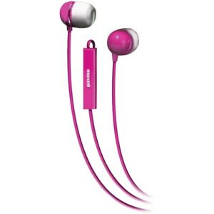 MAXELL 190304 - IEMICPNK Stereo In-Ear Earbuds with Microphone & Remote (Pink)