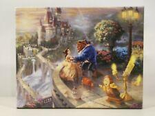 Thomas Kinkade Studios Disney Beauty and the Beast 10x8 Gallery Wrapped Canvas