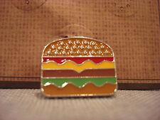 Lapel Pin - Brand New Ten79La Boutique Designer Cheesburger Hamburger Metal