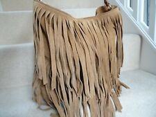 NEXT TAN BROWN SUEDE LEATHER LARGE SHOULDER BAG HOBO BAG USED ONCE