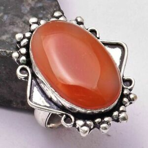 Carnelian Ethnic Handmade Ring Jewelry US Size-5 AR 32328