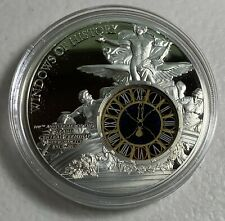 2013 Cook Islands $10 New York Grand Central Station Tiffany Clock   50g Proof