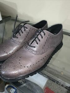 Cole Haan Zerogrand Gray Leather Wingtip size 9.5