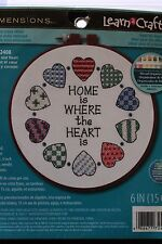 DIMENSIONS HOME IS WHERE THE HEART IS STAMPED CROSS STITCH KIT
