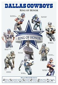 """THE DALLAS COWBOYS RING OF HONOR 13""""x19"""" COMMEMORATIVE POSTER"""