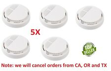 5X SMOKE ALARM Battery Operated Sensor Home Fire Safety Detector