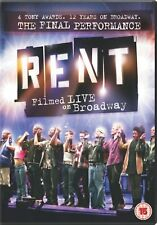Rent - Filmed Live On Broadway [2009] PAL Musical DVD Brand New