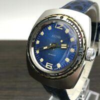 F Hand VOSTOK AMPHIBIAN Diver Blue Men's Custom Wristwatch USSR Rare Serviced SU