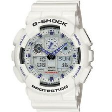 Casio G-Shock GA-100A-7A White Grey Digital Analog Men's Sports Watch