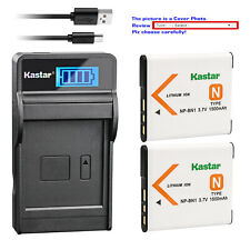 Kastar Battery LCD USB Charger for Sony NP-BN1 BC-CSN & Sony Cyber-shot DSC-W350