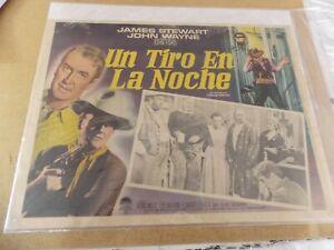 THE MAN WHO SHOT LIBERTY VALANCE(1962)JOHN WAYNE ORIGINAL MEXICAN LOBBY CARD