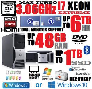 12 PROCESSOR XEON I7 COMPUTER UPTO 48GB🚩UPTO 1TB SSD🚩UPTO 6TB🚩DESKTOP HDMI