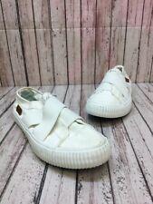 Women's Blowfish Marley White Canvas Sneaker Slip On Flats Size 7.5 M