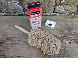 c1960's Vintage Prestige O-Cedar Handi-Mop in Original Tin