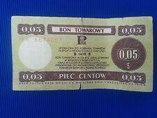 Poland - Bon towarowy Pekao 0,05$ - 1979..