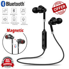 Sweatproof Headphones Wireless Bluetooth Sport Earphones Stereo Headset +Mic LOT